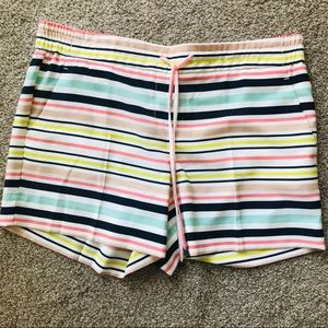 The limited striped flat front pull on shorts